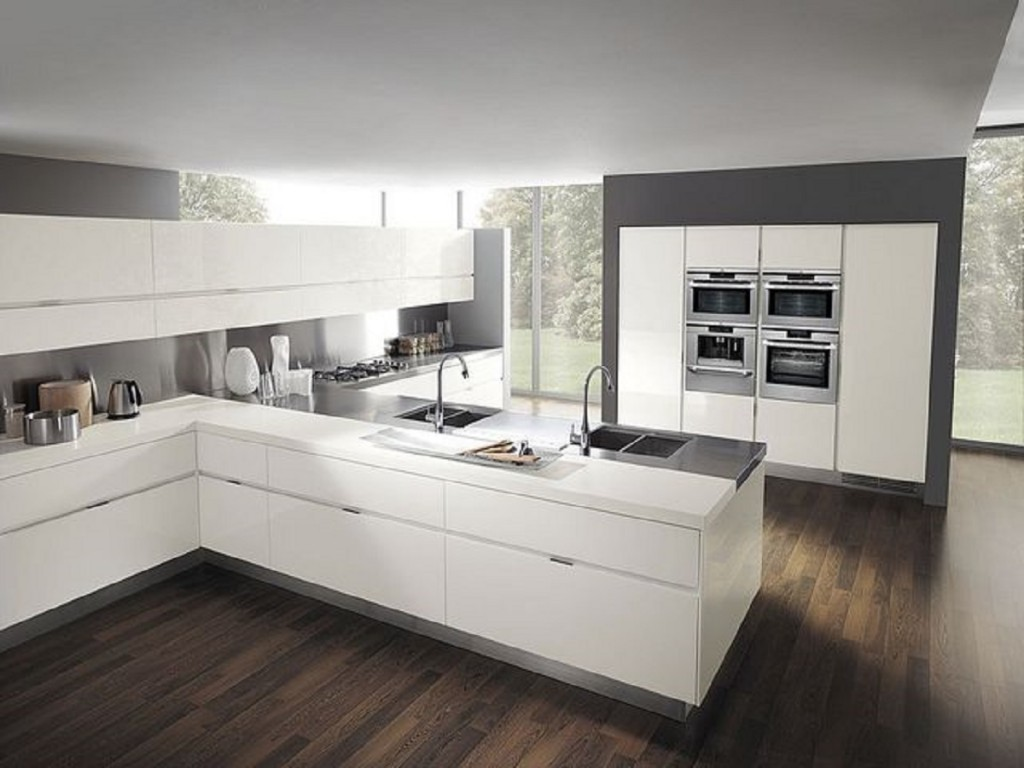 Cuisine bousiges cr ations for White kitchen ideas modern