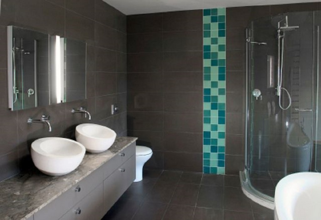 Beautiful Salle De Bain Bleu Et Gris Photos - House Design ...